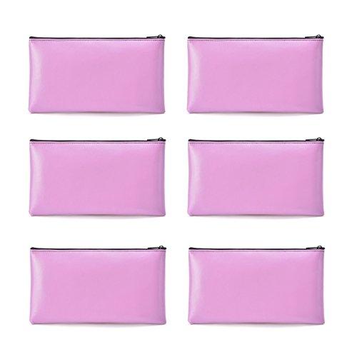 (Bank Deposit Money Bag/Utility Zipper Bags for Cash Money Pens Check Wallet 11 x 6 Inch(Pink))