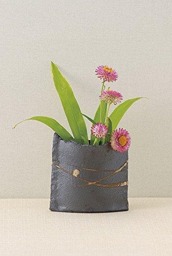 Japanese ceramic Tokoname ware. Ikebana small flower vase.