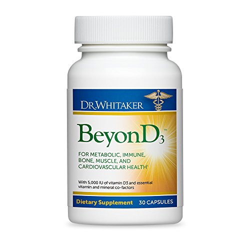 Dr. Whitaker's BeyonD3 - Vitamin D Supplement with Boron, Vitamin K2, Magnesium & Zinc - Supports Immune Health, Calcium Metabolism & Bone Mineralization (30 Capsules)