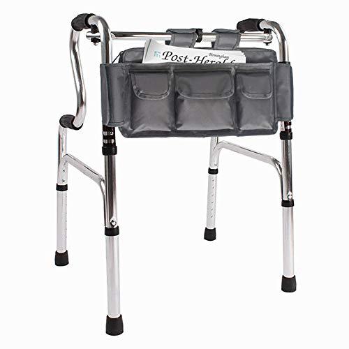 (Folding Walker Bag, Multi Pockets Hands Free Walker Attachment Tote Caddy, Walker Storage Bag, Senior Handicap Basket Pouch fit Most Rollator or Folding Walker, Wheelchair for Elderly or Elderly LYB03)