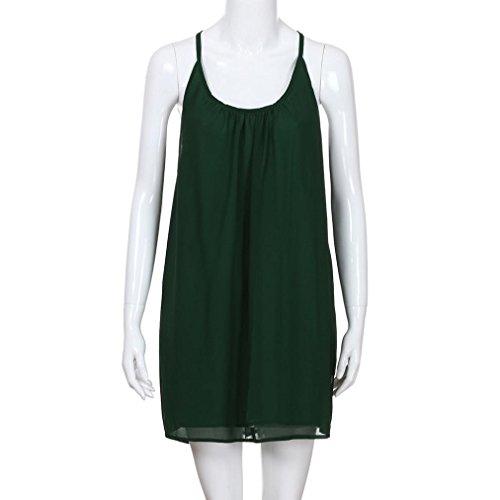Espaguetis Larga Vestir Fiesta Elegante Vestido Largo La Falda Corto Camiseta Verde Playa Fuera Mujer Mujer Vestido Moda Espalda Casual JYC Vestido Gasa Correa Encaje Hueco Verano Boda De x7EwAqUq