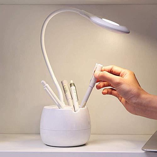 Honrar Primi LED Desk Lamp for Kids,Dimmable Eye Care Study Book Light with Pen Holder/Night Light/USB Charging Port for Girls Boys Reading Light