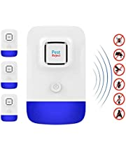 AILEDA Ultrasonic Pest Repeller (4 Pack),Electronic Plug In Pest Control Indoor Use | 100% Human & Pet Safe Repellent | For Cockroach, Mosquitoes, Mice, Rats, Spiders, Bugs, Flies, Insects & More