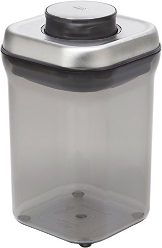 OXO Good Grips Tea POP Food Storage Container, Small (Basket Leaf Bread)