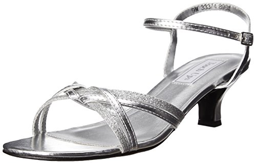 Touch Ups Prom Shoes - Touch Ups Women's Melanie Dress Sandal, Silver, 9 M US