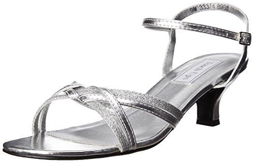 Touch Ups Women's Melanie Dress Sandal, Silver, 9 W US