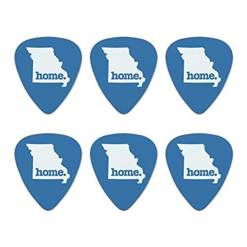 - Missouri MO Home State Solid Denim Blue Officially Licensed Novelty Guitar Picks Medium Gauge - Set of 6