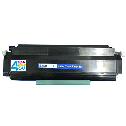 Ink & Toner 4 You ® Remanufactured Black Laser Toner Cartridge for Lexmark E250A11A E250A21A Works With Lexmark E250, E250d, E250dn, E350, E350d, E352, E352dn Series Laser Printers - 3,500 Page Yield