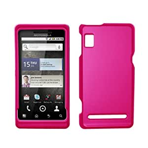 EMPIRE Hot Pink Rubberized Hard Cover Crystal Case for Motorola Droid 2 A955 [EMPIRE Packaging]