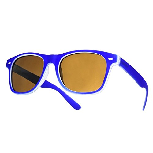 de negro unisex TM Gafas Negro sol 4sold ochentero diseño marino azul ahumados con cristales xZUan