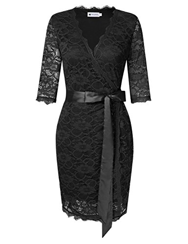 Lace Wrap Dress - 8