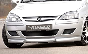 Rieger Frontal Alerón Labio Negro Mate para Opel Corsa C: 06.03 (a Partir de Facelift): Amazon.es: Coche y moto