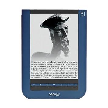 Papyre 622 - Lector de libros electrónicos, color azul: Amazon.es ...