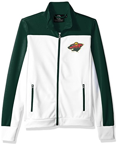 NHL Minnesota Wild Women's Play Maker Track Jacket, XX-Large, (Minnesota Wild Nhl Light)