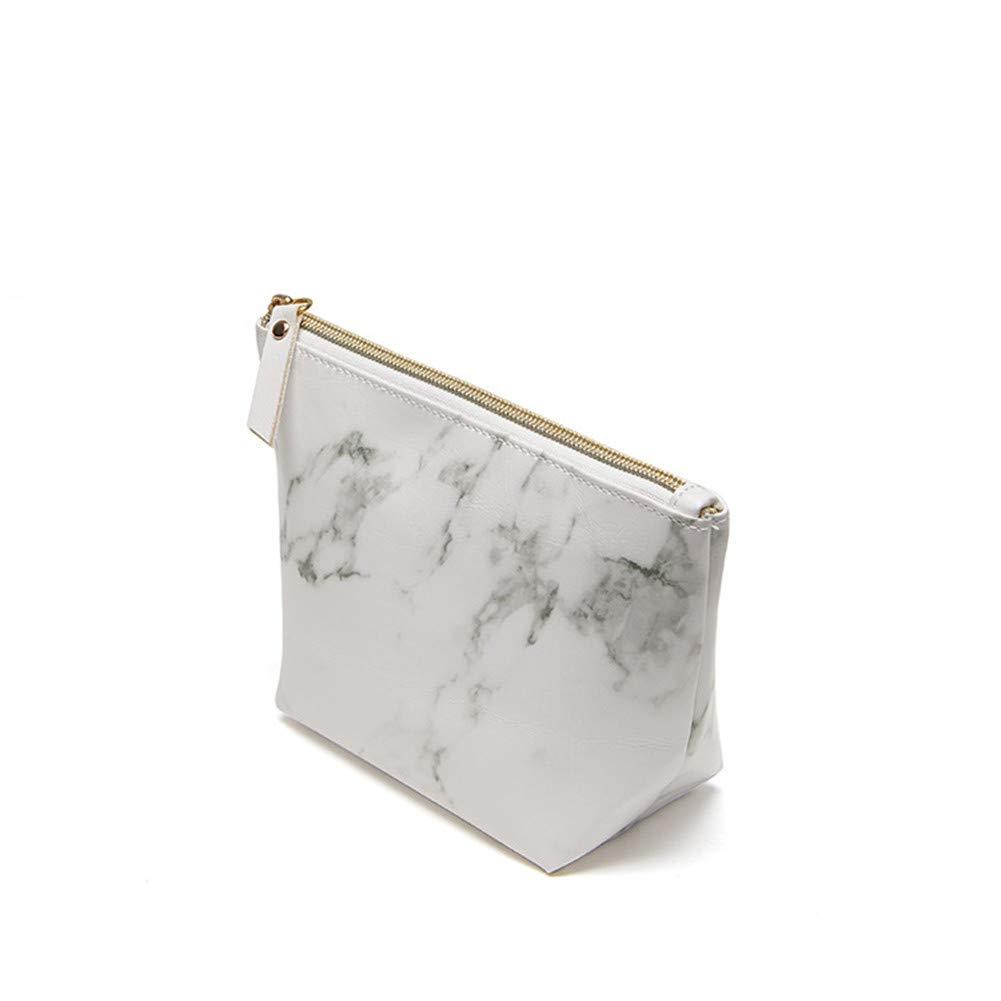 af634eb2b45e Amazon.com : Homekit 3 Pcs Marble PU Brush Cosmetic Makeup Bag ...