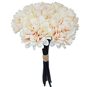 Lily Garden Silk Chrysanthemum Ball 7 Stems Flower Bouquet (Sand) 25