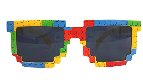 Party Ninja Brick-Theme Sunglasses for Building Brick Loving Kids. Build in Style!