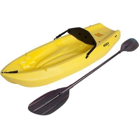 Lifetime, 6', 1-man Wave, Made From Durable HDPE, High Density Polyethylene Construction, Ergonomic Cockpit Design, Uv Protected, Youth Kayak, Yellow, with Bonus Paddle