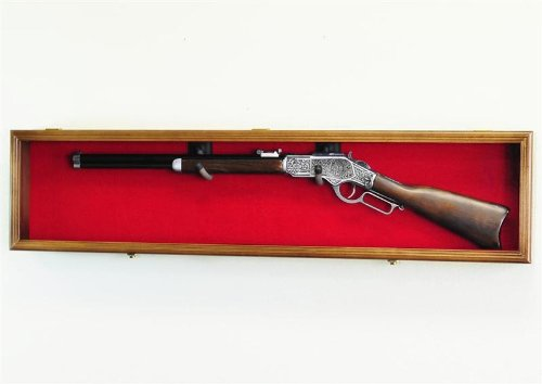 wall mount rifle display case - 1
