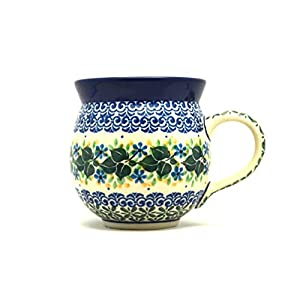 Polish Pottery Mug – 11 oz. Bubble – Ivy Trail
