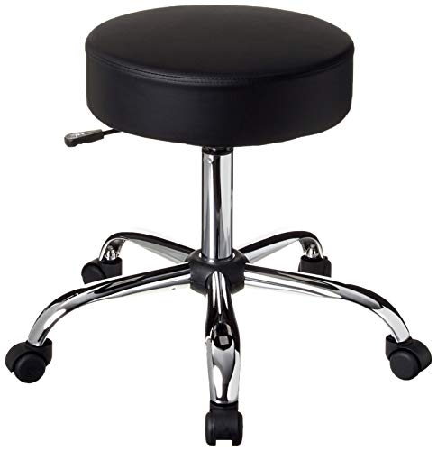 Boss Office Products Be Well Medical Spa Stool in Black (Bar Stool Sitting On)