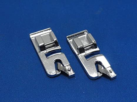 Pie Prensatelas de Dobladillo Set 4mm & 6mm para Máquinas de Coser con Cierre Automático compatible