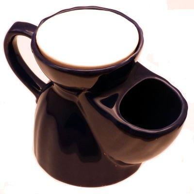 Pottery Shaving mug with soap tablet, blue Progress Vulfix BLSM