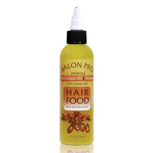 Salon Pro Hair Food, Black Castor With Jojoba Oil, 4 Ounce (Salon Pro Hair Food Black Castor Oil)