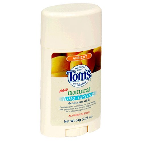 Tom's of Maine Natural Deodorant Stick, Apricot, 2.25-Ounce Stick