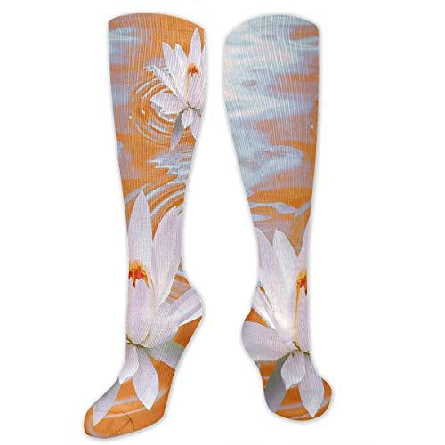 Stretch Socks Lotus Flower Orange Marvellous Winter Warmth for Women & Men -
