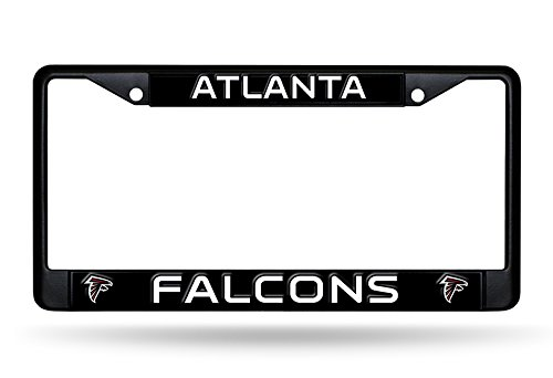Rico Industries NFL Atlanta Falcons Standard Black Chrome License Plate Frame ()