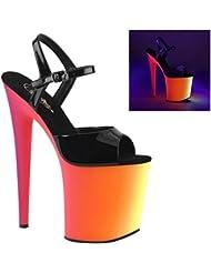 Pleaser Womens RAINBOW-809UV Sandals