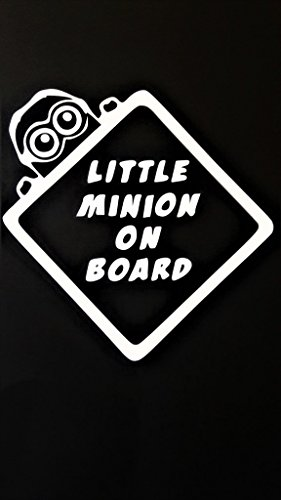 Minion On Board Minions Vinyl Decal Sticker|WHITE| Cars Trucks Vans SUV Laptops Wall Art|6.5