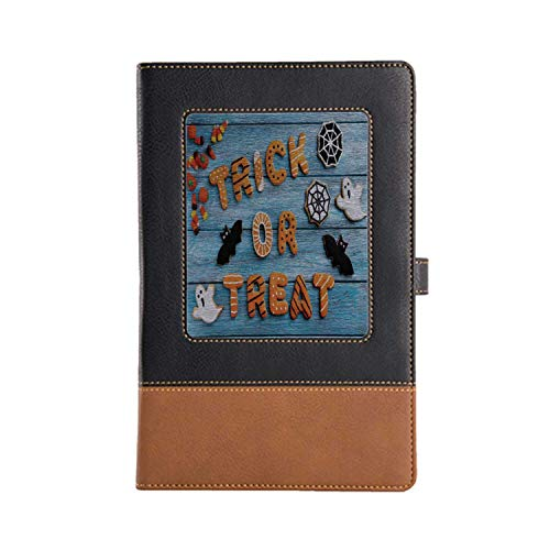 Hand-Made Notebook Vintage Halloween Cafe Writing Leather Notebook