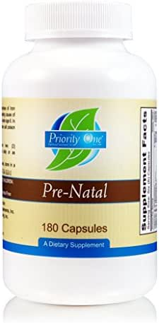 Priority One Vitamins Pre-Natal 180 Capsules - Full Spectrum Multi-Vitamin Supporting The Nutritional Needs of Mother and Baby.*