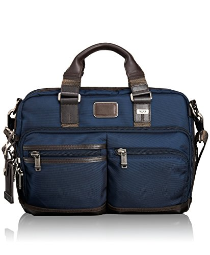 Tumi Alpha Bravo Andersen Slim Commuter Brief, Navy, One Size by Tumi