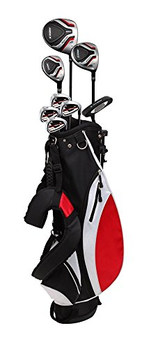 Precise Teenager Complete Golf Set Includes Titanium Driver, S.S. Fairway, S.S. Hybrid, S.S. 7-PW Irons, Putter, Stand Bag, 3 H C s Teen Ages 13-16 Right Hand Left Hand Available