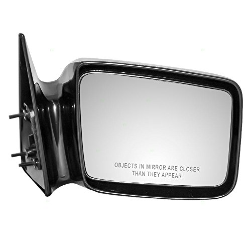 Passengers Manual Side View Mirror 5x7 Ready-to-Paint Replacement for Dodge Pickup Truck 4354344 - Mirror Dakota Dodge 1987