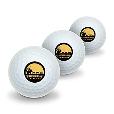 Professional Cat Herder Funny Novelty Golf Balls 3 Pack