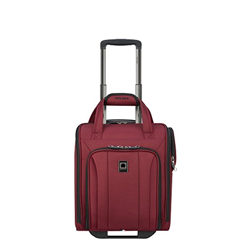 - Delsey Luggage Titanium Soft 2 Wheeled Underseater, Black Cherry Red