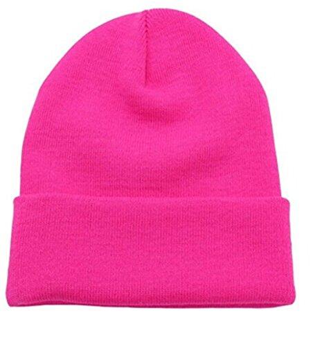 Pink Knit Beanie Hat - 9