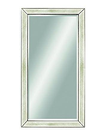 Amazon.com: Bassett Mirror M2546BEC Beaded Leaner Antique Mirror ...
