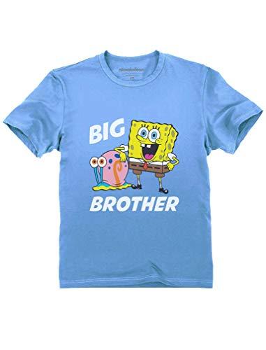 Tstars - Spongebob and Gary Big Brother Funny Toddler Kids T-Shirt 5/6 California Blue]()