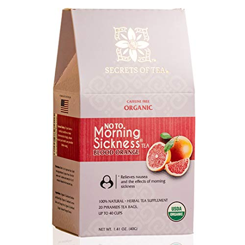 Morning Sickness relief Tea-Blood Orange -USDA Organic Pregnancy Tea for Nausea, Constipation & much more - No Caffeine-20 Biodegradable sachets- Up to 40 servings