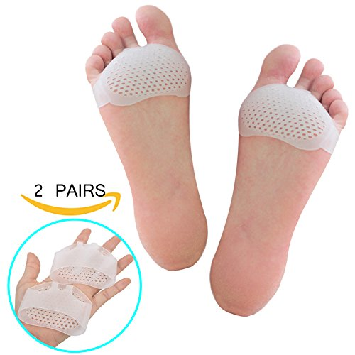 Gel Metatarsal Pads - Zakaco Breathable Soft Ball of Foot Pads,Metatarsal Fracture Pain Relief,Prevent Callus and Blisters For Men and Women (2Pairs)