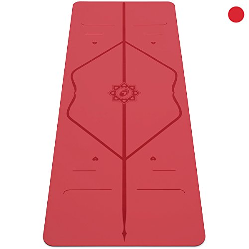 The ORIGINAL Liforme Love Yoga Mat - The World's Best Eco-Friendly, Non Slip Yoga Mat With A Unique Alignment System In A Special Love Edition by Liforme