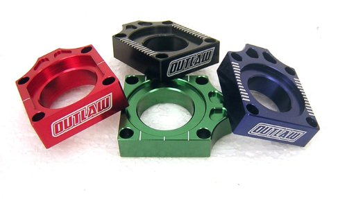 Kx450f Billet (Outlaw Racing Billet Axle Blocks Blue KX250F KX450F KLX450R 03-11 KX125 KX250 03-11 RMZ250 RMZ450 03-11)