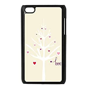 Customized Dual-Protective Case for Ipod Touch 4, Love Tree Cover Case - HL-R658786