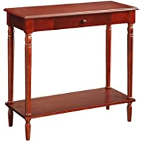 Convenience Concepts French Country Hall Table, Dark Cherry