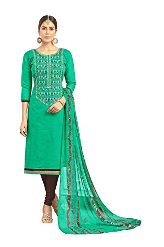 Da Facioun Indian Women Designer Partywear Ethnic Traditonal Teal Green Anarkali Salwar Kameez. by Da Facioun